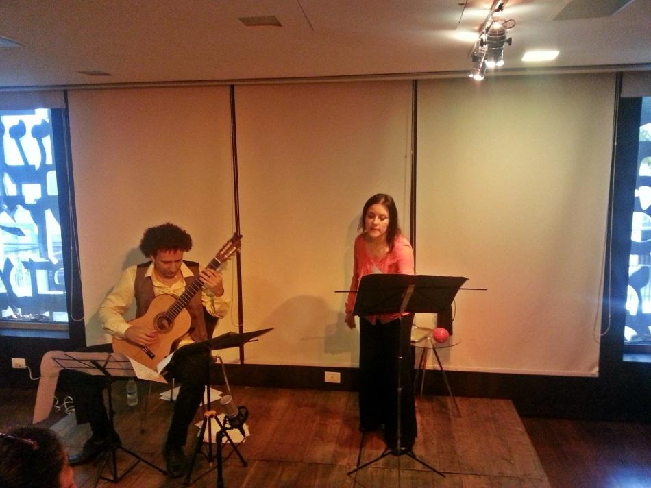 Foto: Duo Lachrimae no Midrash Centro Cultural
