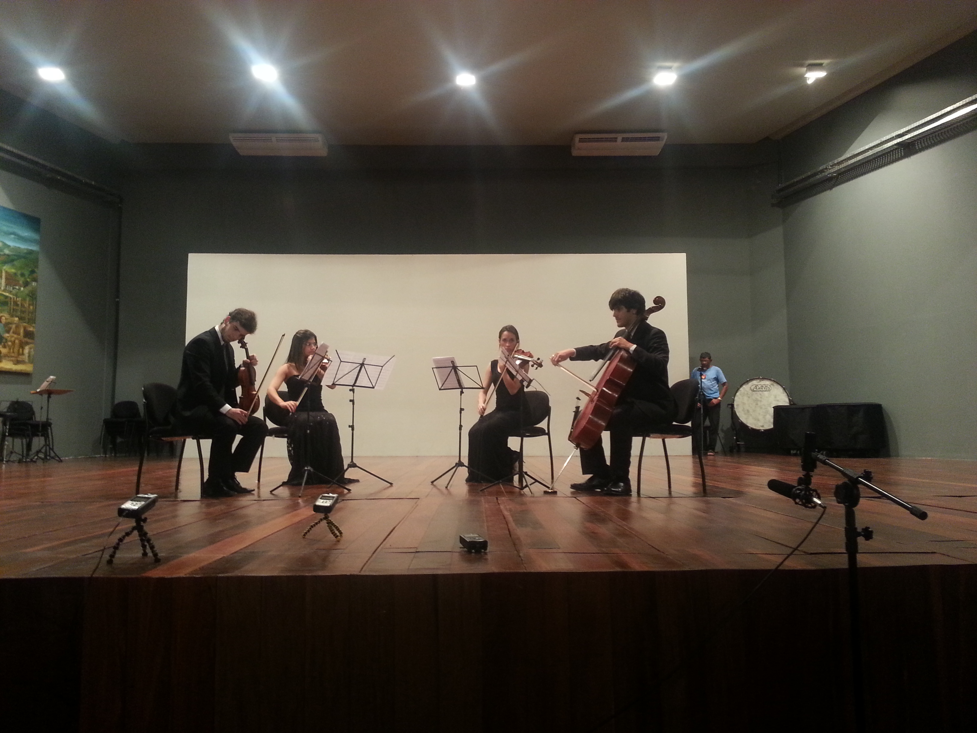 Foto da estreia do meu quarteto Almada N. 2 no XI ENCUN