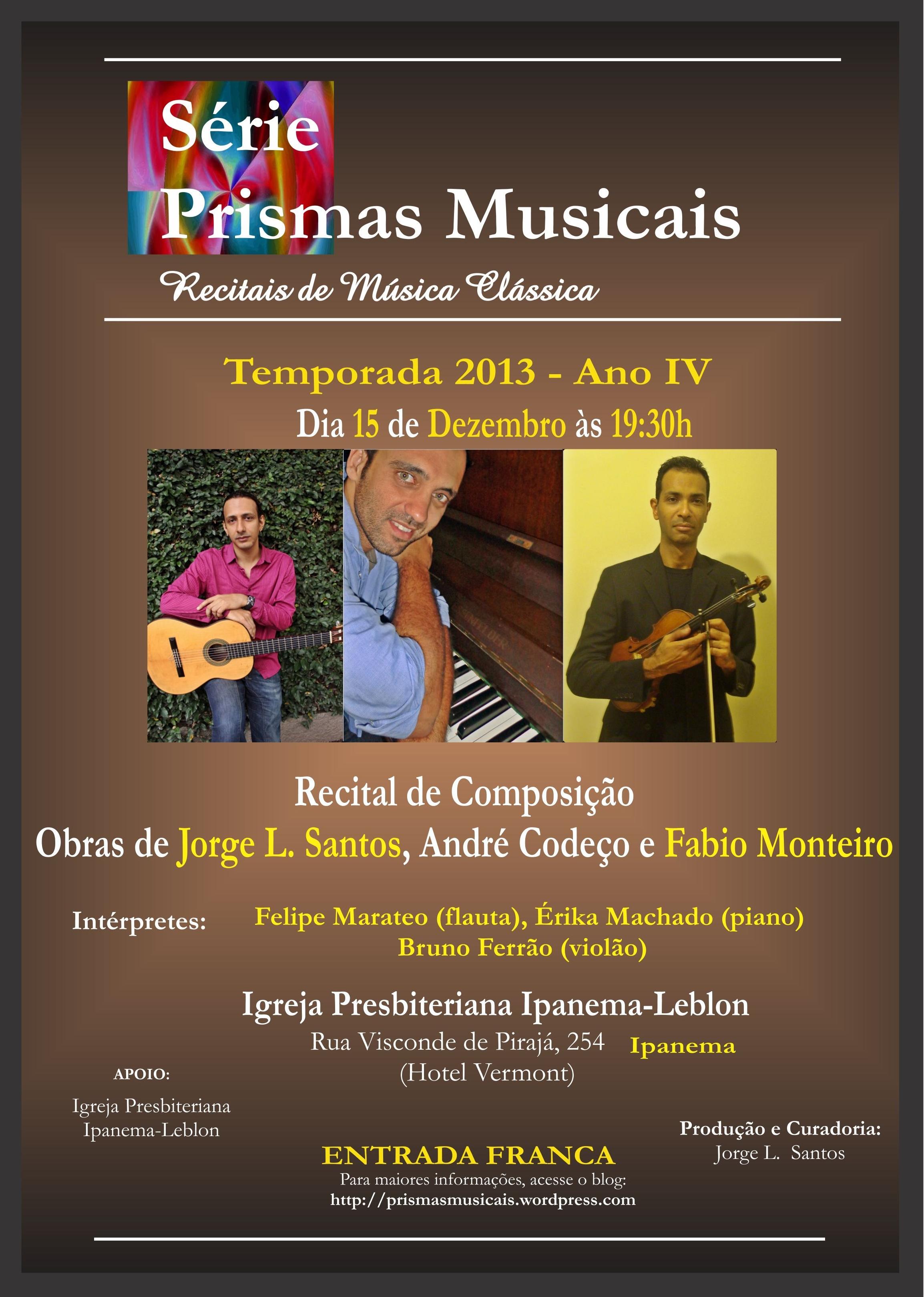 Recital com obras minhas no Domingo dia 15.12