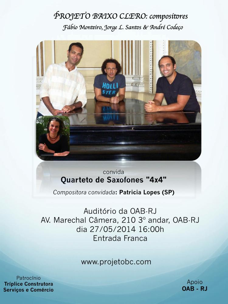projetobc concerto OAB quarteto flyer