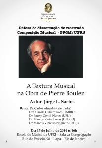 Cartaz defesa mestrado Boulez