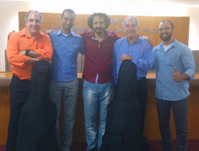 Baixo Clero com Duo Santoro após concerto na OAB/RJ dia 21.10.2014