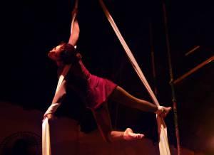 Diana Rosa na acrobacia área