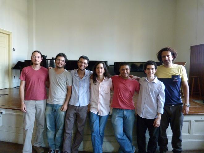 Esq p dir: Ivan, Pedro, Claudio, João, Bruno e Jorge